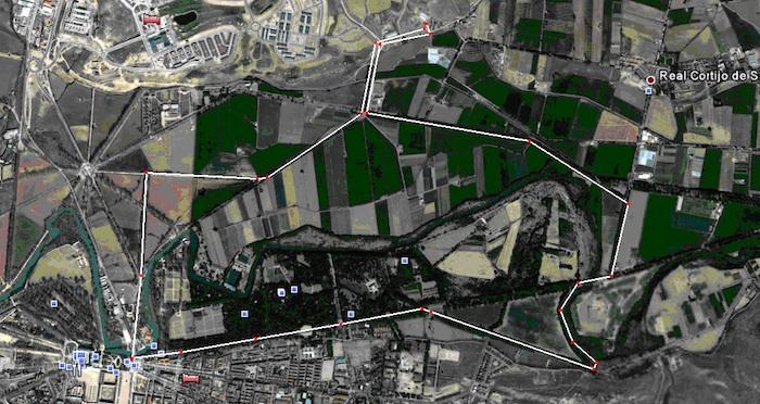 Mapa Aéreo Ruta a Caballo por Aranjuez