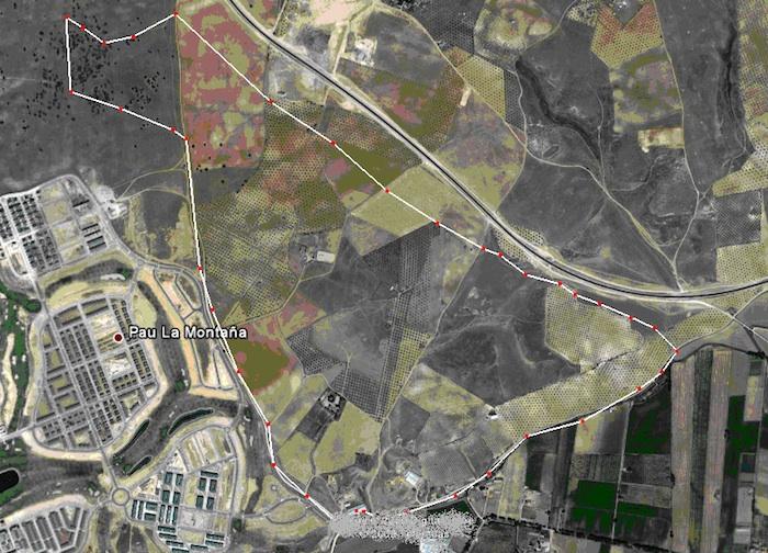 Mapa Aéreo Ruta de los Secanos